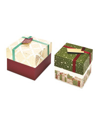 Square Traditional Gift Box 2 Pack