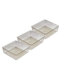 Square Drawer Organisers 3 Pack
