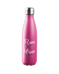Stainless Steel Pink Drink Bottle