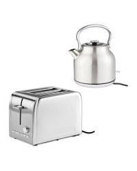 Stainless Steel Kettle & Toaster