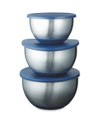 Stainless Steel Mixing Bowl Set - Blue