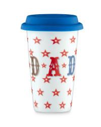 Star-Print Travel Mug