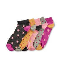Star and Spot Socks - 5 Pack