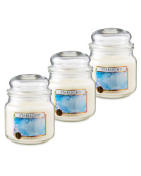 Starlight Glass Jar Candle 3 Pack