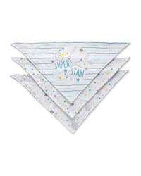 Starry Sky Dribble Bibs 3 Pack