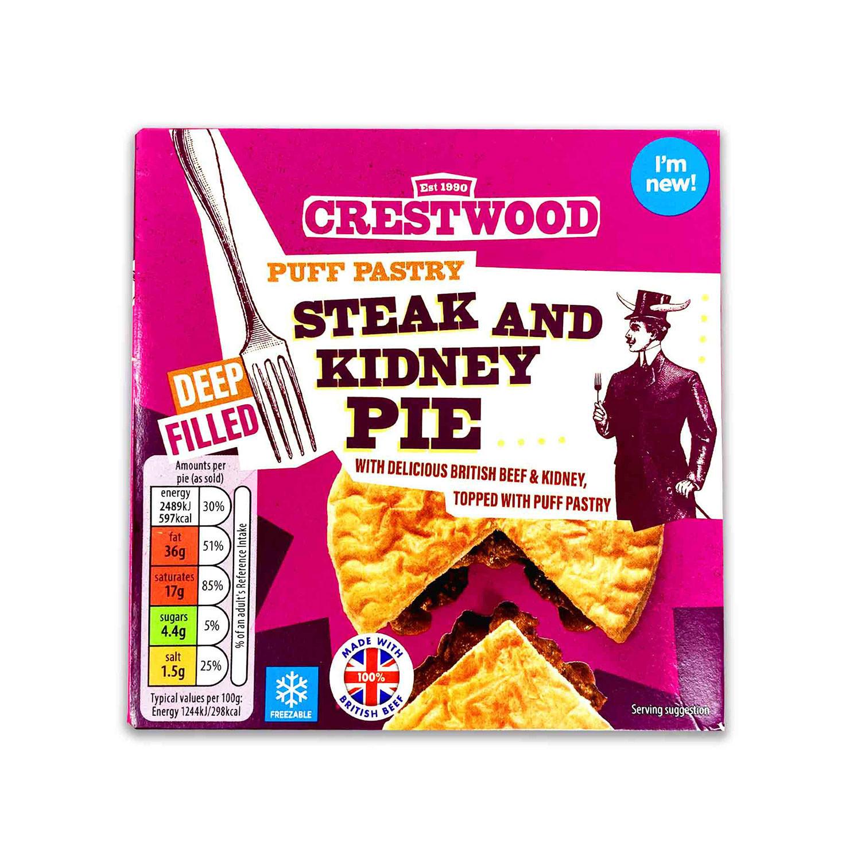 Puff Pastry Steak & Kidney Pie