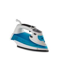 Easy Home Steam Iron - White/Blue