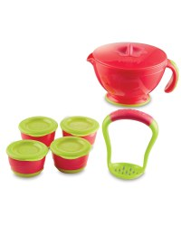 Nuby Steam n' Mash & Freezer Pots - Pink/Green