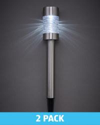 Steel Solar Bollard Light 2 Pack