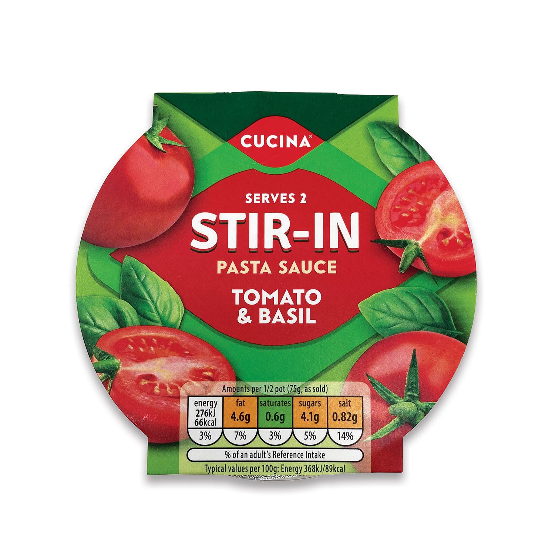 Stir In  Pasta Sauce  Tomato & Basil