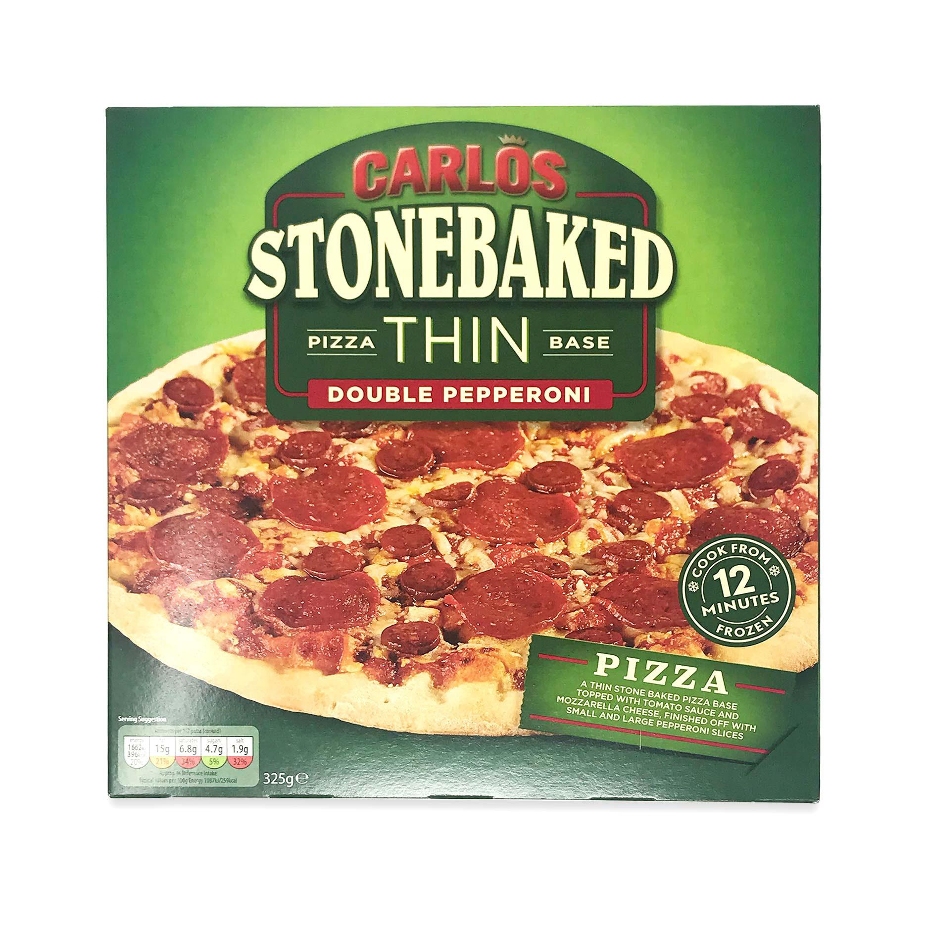 Pizza Thin Base Double Pepperoni