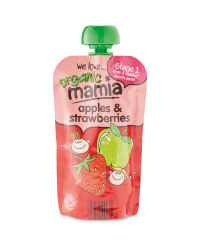 Mamia Strawberry & Apples Pouch