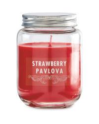 Strawberry Pavlova Candle