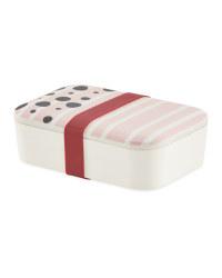 Stripe Bamboo Lunch Box