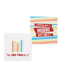 Stripe Birthday Cards 10-Pack