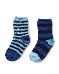 Lily & Dan Stripe Slipper Socks - Blue