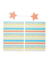 Stripe Gift Wrap & Tags 2-Pack