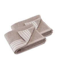Stripe Guest Towels 2 Pack