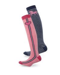 Stripe Kids' Riding Socks 2 Pack