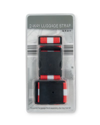 Striped 2-Way Luggage Strap - Red