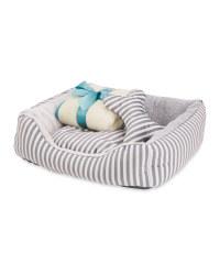 Striped Luxury Pet Bed Bundle