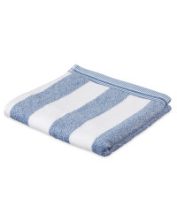 Striped Cotton Hand Towel - Blue
