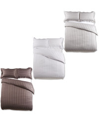 Striped Double Sateen Duvet Set