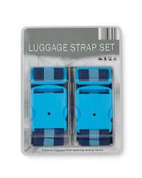 Striped Luggage Strap - Blue