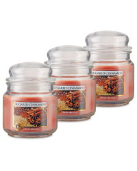 Sugared Cinnamon Candle Jar 3 Pack