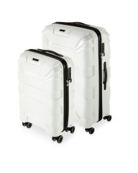White Suitcase Set