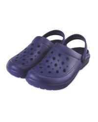 Summer Clogs Dark Blue