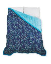 Kirkton House Palm Bed Spread - Navy/Blue