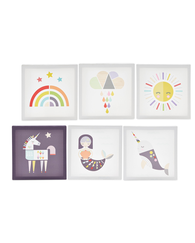 Sun/Mermaid Kids' Room Canvas Set
