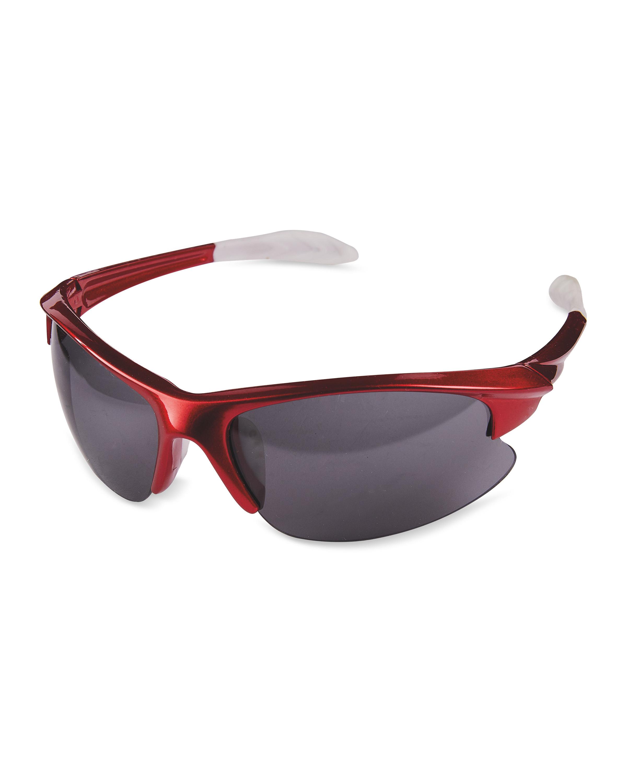 Red Metallic Shiny Sunglasses