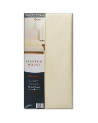 Super King 400TC Sateen Fitted Sheet - Cream