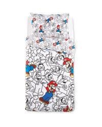 Super Mario Single Duvet Set