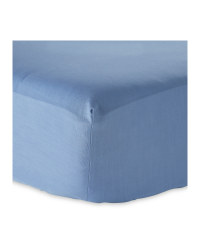 Super King Cotton Rich Fitted Sheet - Blue