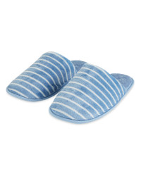 Supersoft Mule Blue Slippers
