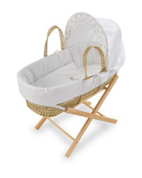 Mamia Swan Moses Basket With Stand