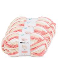 Sweet Coral Baby Yarn 4 Pack