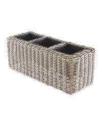 Synthetic Rattan Planter Triple
