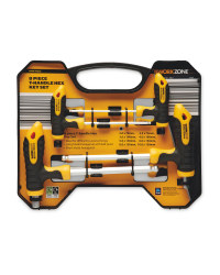 Workzone T-Handle Hex Key Set