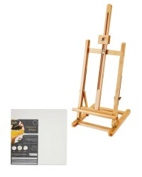 Table Easel and Square Canvas Set