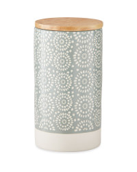 Large Embossed Kitchen Canister
