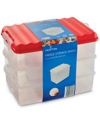 Tall Fridge Storage Boxes (3 Pack) - Red