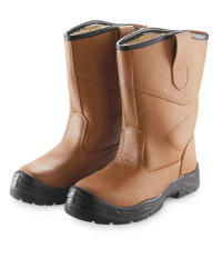 Tan Safety Rigger Boots
