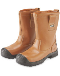JCB Tan Safety Rigger Boots