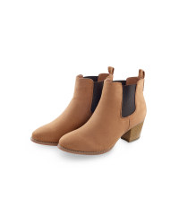 Tan/Dark Brown Ladies' Chelsea Boots