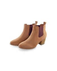 Tan/Maroon Ladies' Chelsea Boots
