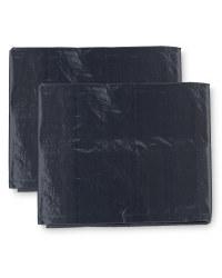 2-Pack Tarpaulin 3x2m - Anthracite